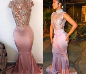 Pearl Pink Prom Dres..