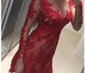 Sexy Red Lace Homeco..